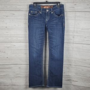 Hydraulic womens thick stitch jeans